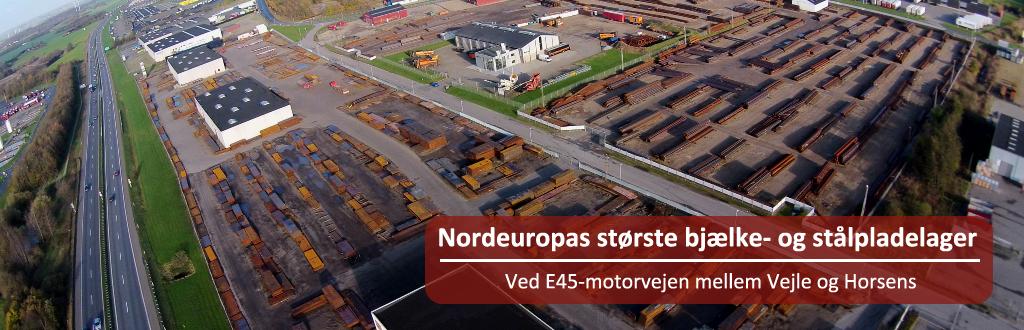 Nordeuropas største bjælke- og stålpladelager